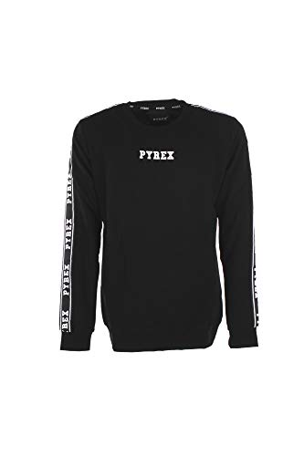 Pyrex felpa uomo maglia unisex 40061 s nero