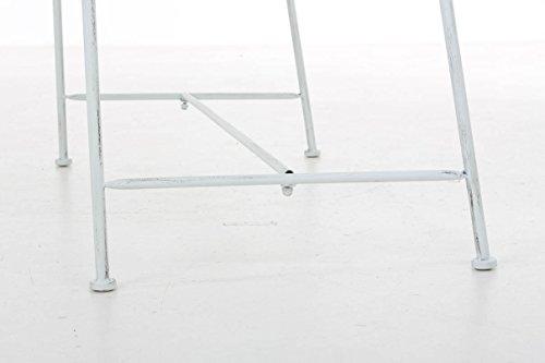 CLP Gartenbank SALIM im Landhausstil, aus lackiertem Eisen, 107 x 50 cm – aus bis zu 6 Farben wählen Antik Weiß - 8