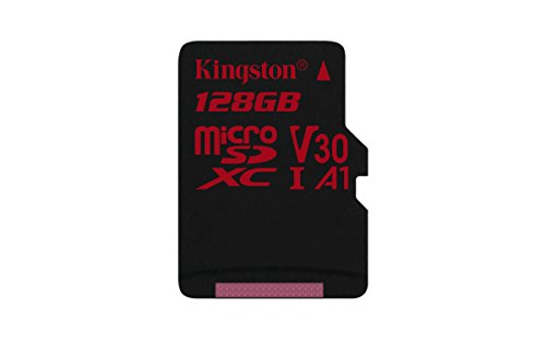 Kingston MicroSD Canvas React SDCR 128GBSP klasse 10, ohne SD-Adapter, Ideal für Serienaufnahmen und 4K Video Klasse Video