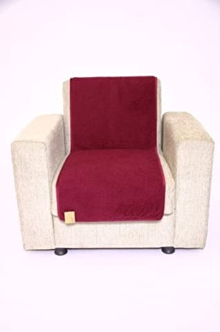 Sesselschoner, Farbe bordeaux, Größe 175 cm x 47 cm, 1000000006684 (175 Sitz)