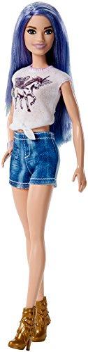 Barbie Fashionista, muñeca 32cm con Cabello Morado Brillante (Mattel FJF48)