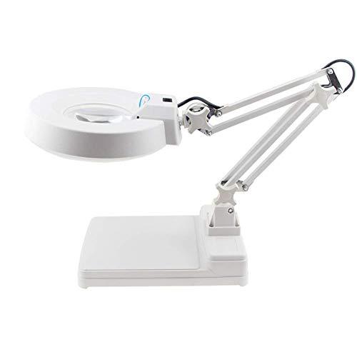 Handlupe/Schreibtisch-Lupe, LED-Beleuchtung, Lese-Halterung, für ältere Menschen, Lesebücher, Karten, Schmuck, Handwerk, Identifizierung, Wartung, verschiedene Stile, tragbar 15x Blaues Glas