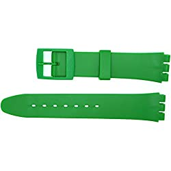 New 17mm (20mm) Sized Resin Strap Compatible for Swatch® Watch - Dark Green - RG14DG