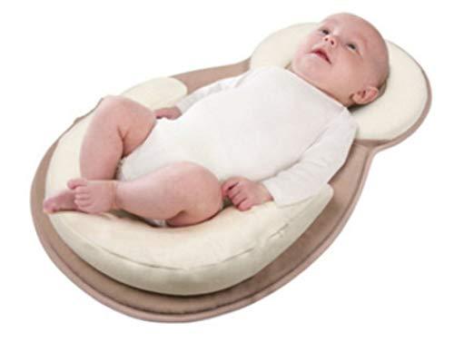 YANGGUANGBAOBEI Stillkissen Infant Lounger Crib Tragbare Baby-Isomatte Neugeborene Matratze Für Kleinkinder Im Alter Von 0-6 Monaten,Brown