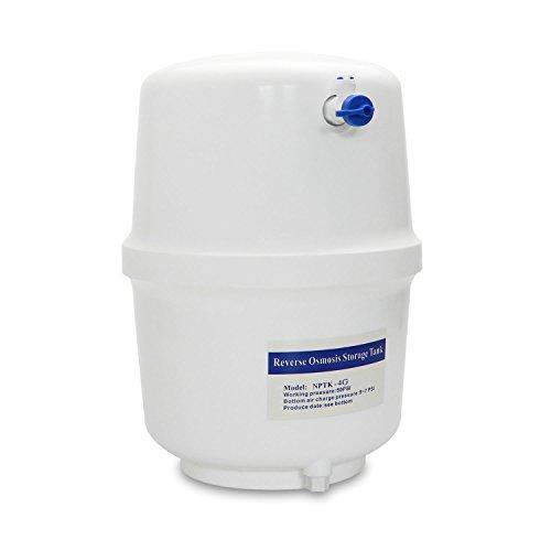 """smardy 4 galones (15,14 litros) depósito de agua tanque + Grifo de cierre para la manguera de agua (1/4\"""") RO sistema de ósmosis inversa"""