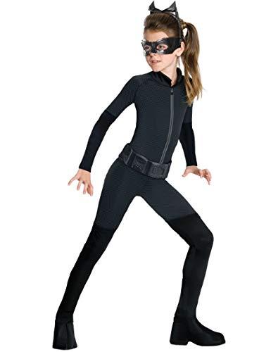 Mädchen Catwoman Batman Catsuit Schwarze Katze Einbrecher Halloween -