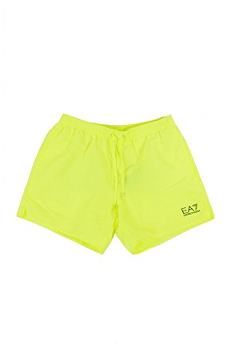 Maillot Short Micro Polyester Jaune fluo