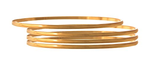 JFL - Traditional Ethnic One Gram Gold Plated Designer Bangles for Girls & Women - Set of Four Bangles