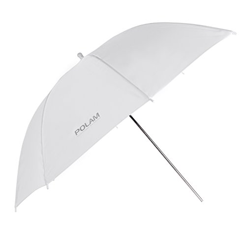 """POLAM-FOTO 33""""/84cm Parapluie Photo/Parapluie d'Eclairage de Studio, Parapluie Translucide/Blanc de Lumière Douce pour la Photographie (1 pièce ¡"""