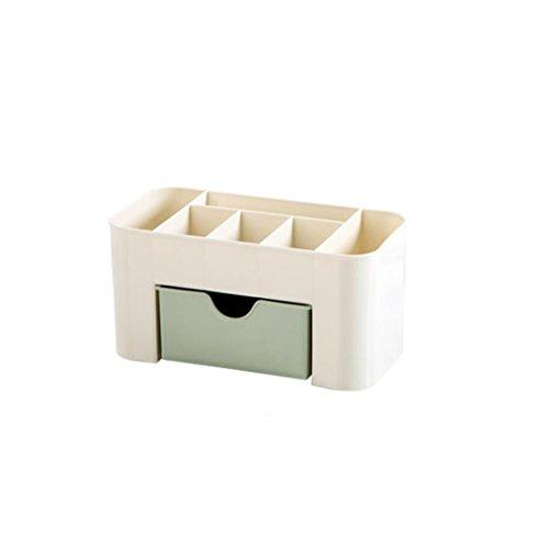 OHQ Boîte de rangement de maquillage de bureau cosmétique peu encombrant (Vert)