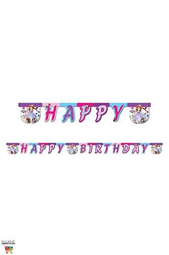 Disney 1,9m Sofia die Erste Happy Birthday Banner