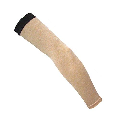 UV-Schutz Fingerlos Lang Armstulpen, Farbe und Größe Auswählbar, Atmungsaktiv aber Warm - Beige, M