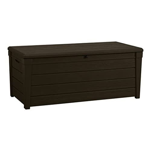 Keter Brightwood Outdoor Plastic Storage Box Garden Furniture, 145 x 69.7 x 60.3 cm – Brown