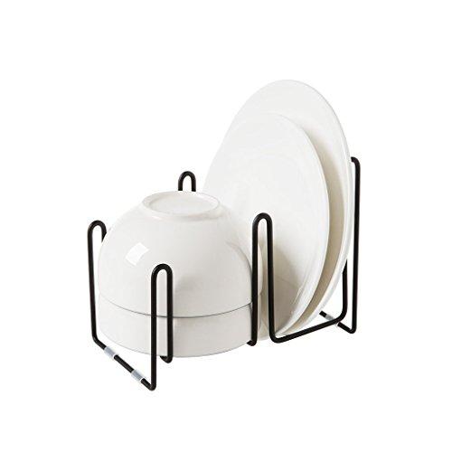 Teller Liner (LUYIASI- Regal-Eisen-Teller-Zahnstangen Hauptschüssel-Zahnstangen-Schüssel-Lagerregal-Küche Teller-Platten-Abfluss-Gestell-mehrstöckige Küche Shelf)