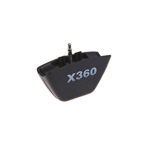GROOMY Schwarz 2,5 mm Klinke Mikrofon Headset Kopfhörer Konverter Adapter für Xbox 360 - 360 Tetris Spiele Xbox