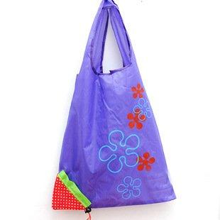 Liroyal-Strawberry-Folding-Fold-up-Reusable-Compact-Eco-periodic-duty-Recycling-use-Shopping-Bag-Purple