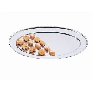 Olympia Oval Serving Tray 8In/201mm Stainless Steel Silver Platter
