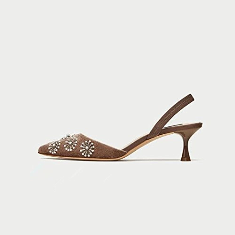 m. / mme jianxin  's du avec printemps et de l'été avec du un seul soulier, chaussures à talons haut creux avec des chaussures en cuir.(taille...les chaussures de façon réelle gr21819 polyvalent caractéristique b3f67d