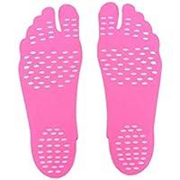 Strand Wasserdichte Rutschfeste Schuhe Stick On Sohlen Adhesive Foot Pad Stickers (Farbe: Rose Red) (Größe: S) preisvergleich bei billige-tabletten.eu