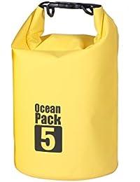 Vmore 5 Liter Ocean Pack Waterproof Dry Bag Camping Swimming Bag (Yellow)