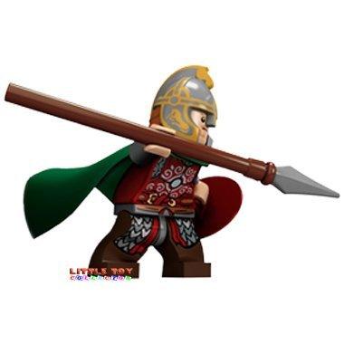 Lego Herr der Ringe Eomer mit Schild und Speer ( Minifigur mit grünem Mantel und Helm ) - Herren-speer