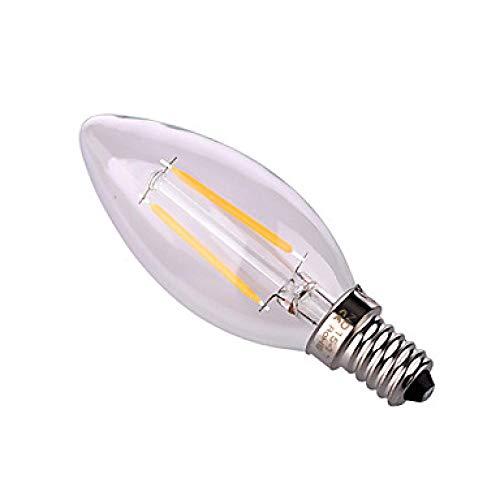 Lampade Edison Chip Filamento Led E14 E26 / E27 4W 320Lm Lampadina A Candela Edison Sostituire Lampada Incandescente 4W Illuminazione Ac 220 240V Bianco Caldo E14