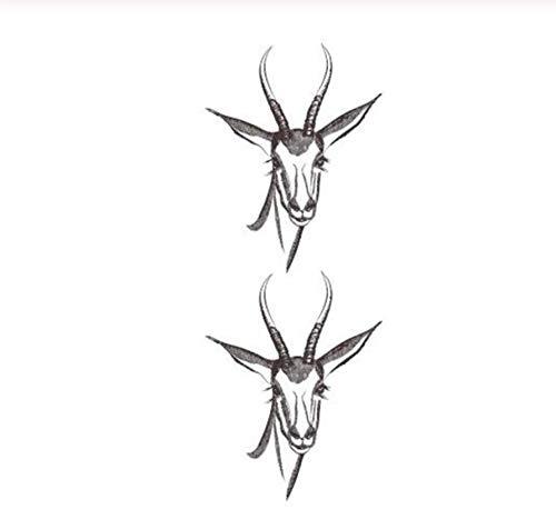 ruofengpuzi Wasserdicht Temporäre Gefälschte Tätowierung Aufkleber Grau Gazelle Schaf Ziege Kurze Tiere Design Body Art Bilden Werkzeuge