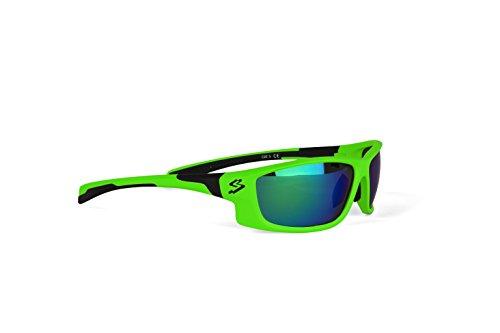 Spiuk Spicy - Gafas de ciclismo unisex, color verde mate / negro