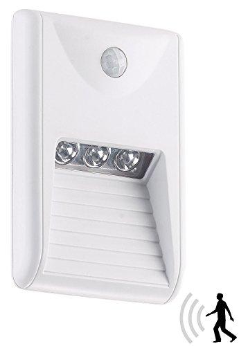 Lunartec LED Treppenlicht: LED-Treppenleuchte & Nachtlicht mit PIR-Bewegungssensor, 15 lm, 0,18 W (Nachtlicht mit Bewegungsmelder)