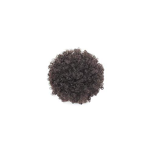 ff Kordelzug Pferdeschwanz Kurz verworrene lockige Haarknoten Erweiterung Donut Chignon Haarteile Perücke synthetischen Locken Perücke Dunkelbraun 1PC ()