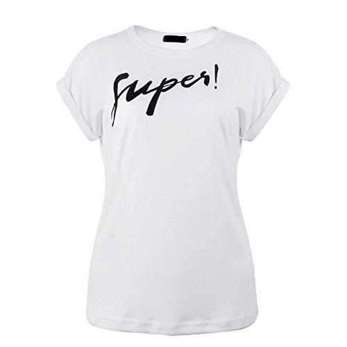 WanYang Damen Top T Shirt Bluse Longshirt Bluse Hemden Oversize Hemd T-Shirt  Tops Weiß ...