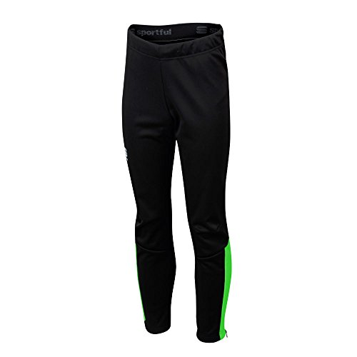 Sportful Team Pant Junior - Green Fluo/Black -
