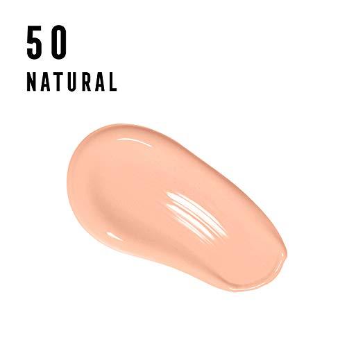 Max Factor Facefinity All Day Flawless 3 in 1 Fondotinta Liquido a Lunga Durata 50 Natural, 30 ml