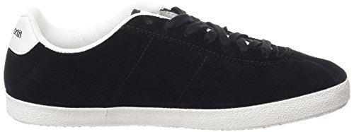Le Coq Sportif Foot Origin Suede Unisex-Erwachsene Sneaker Schwarz (Black)