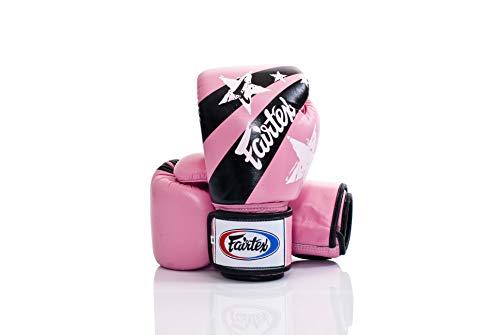 Fairtex Tight Fit Boxhandschuhe Leder Nation Prints/Pink 12 oz.