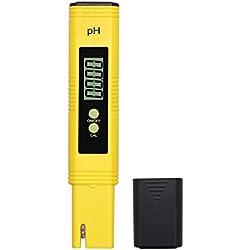 PH Testeur Numérique de Haute Précision PH Mètre Plage de 0.00-14.00 Taille de Poche PH Stylo avec Batterie PH Mesure pour l'Eau Potable Piscines Spas Aquarium Hydroponique