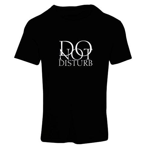 Maglietta Donna Non disturbare - citazioni divertenti - regalo Nero Fluorescente