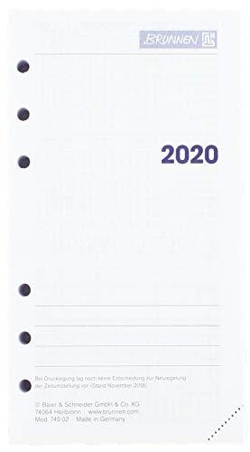 Brunnen 107490220, Tageskalendarium, Zeitplansysteme, 2020, 1 Seite = 1 Tag, SA. + So. auf einer Seite, Blattgröße 9, 3 x 17, 2 cm