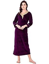 Amazon.in  Velvet - Nighties   Nightdresses   Sleep   Lounge Wear ... 50ac6ebe9
