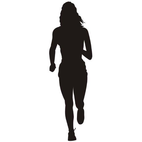 das-label Laufen Damen Autoaufkleber Sportaufkleber schwarz