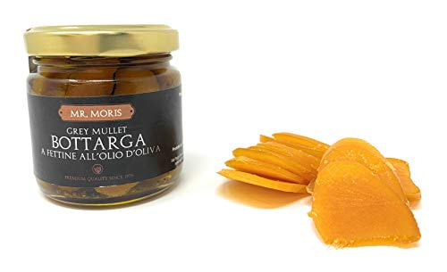 Bottarga di muggine a fettine all'olio di oliva mr. moris kosher 100gr