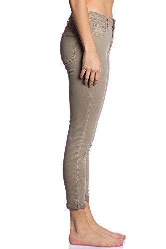 Abbino CG001 Hosen Damen Frauen - 5 Farben - Mode Trend Damenhosen Hosen Übergang Herbst Winter Charme Zärtlichkeit Umhang Elegant Sale Warm Modisch Komfortabel Junge Schöner Dynamisch Beige