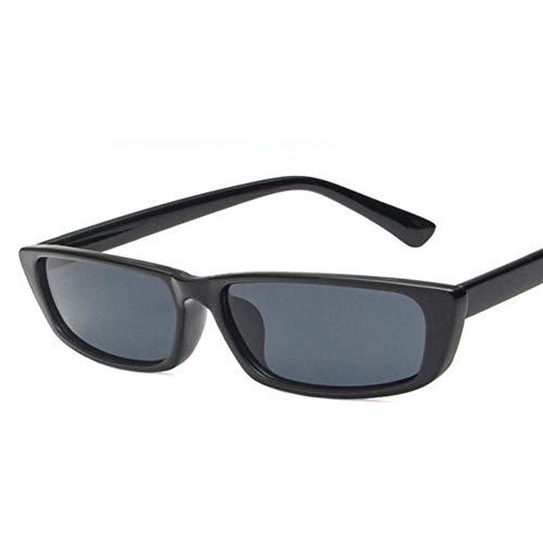 YHEGV Sonnenbrille-Frauen-Sonnenbrille-weibliches kleines Rahmen-Sonnenbrille für Dame Uv400 Narrow Black Eyewear