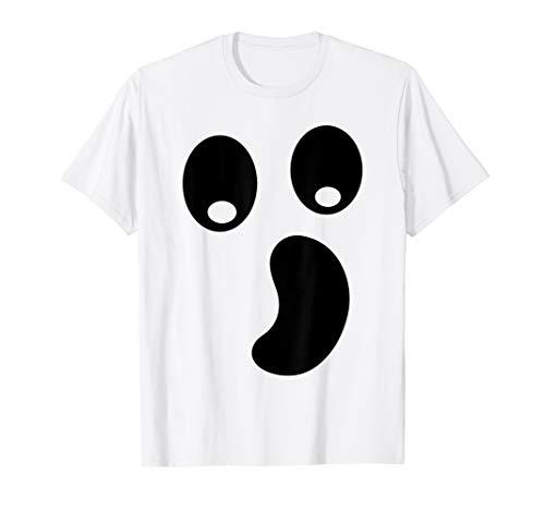 Kostüm Boo Frauen - Halloween Schaurig Geister Boo Gesicht Kostüm T-Shirt