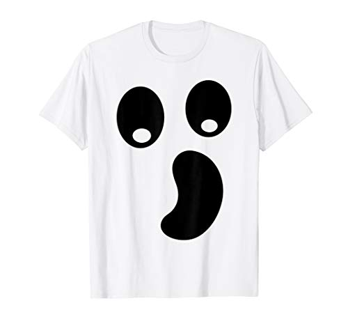 Ghost Kostüm Gesicht - Halloween Schaurig Geister Boo Gesicht Kostüm T-Shirt
