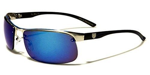 KHAN Sport-Sonnenbrille für Damen und Herren, zum Laufen, Radfahren, Golf, Silver - Black | Ice, Einheitsgröße