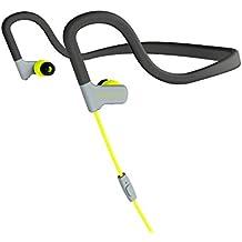 Energy Sistem Sport 2 - Auriculares deportivos intrauditivos (Neckband-fit, tecnología Sweatproof, control de reproducción, micrófono) color amarillo