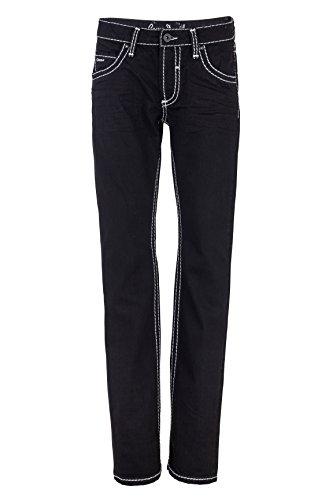 Camp David Herren Jeans Boot Cut NICOLAS REGULAR FIT BLACK USED, Farbe: Schwarz, Größe: 30/30