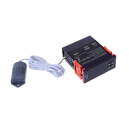 Diubcucy Controlador digital de humedad Relé de higrostato Interruptor de control de higrómetro AC...