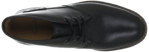 Clarks Montacute Duke Herren Kurzschaft Stiefel Schwarz (Black Leather)
